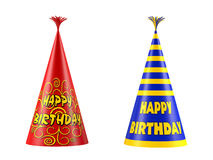 Cap birthday isolated. Party hat. Cap birthday isolated at the white background Party hat Royalty Free Stock Photos