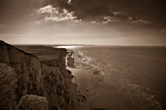 Cap Blanc Nez, coastline of the North Sea, France Royalty Free Stock Photo