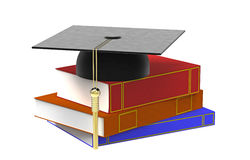 Cap and books Stock Photo