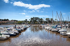 Cap Breton harbor in Pays Basque, France Royalty Free Stock Photos