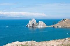 Cap Burkhan, Baikal Photographie stock libre de droits