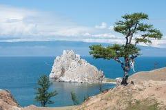 Cap Burkhan, Baikal Photo libre de droits