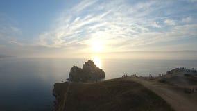 Cap Burkhan, le symbole du lac Baïkal Tir a?rien banque de vidéos