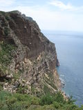 Cap Canaille on the ridge road between Cassis and  Stock Photos