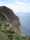 Cap Canaille on the ridge road between Cassis and  Stock Images
