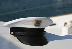 Cap of captain Stock Photography