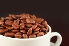 Cap with coffee beans Stock Photo