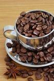 Cap of coffee beans. Coffee beans and cap of coffee beans stock photos