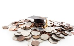 Cap on coins Royalty Free Stock Photo