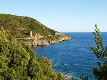 Cap Corse, Ancient Guard tower. Royalty Free Stock Photography
