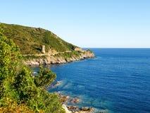 Cap Corse, Ancient Guard tower. Stock Photo