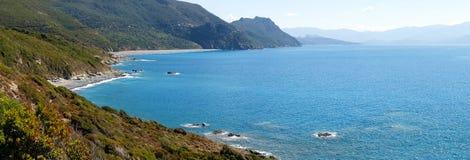 Cap Corse, the beach of Nonza. Royalty Free Stock Photos