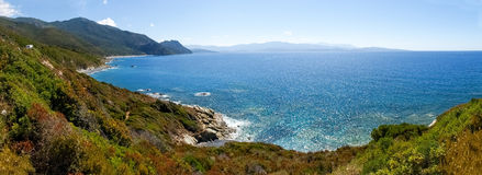Cap Corse, the beach of Nonza. Royalty Free Stock Photography