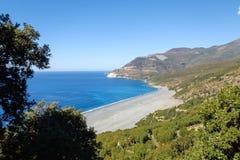 Cap Corse, the beach of Nonza. Stock Photos