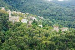 Cap Corse landskap Royaltyfria Bilder