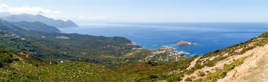 Cap Corse, the mediterranean coast. Royalty Free Stock Photos