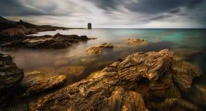 Cap Corse panorama Royaltyfri Fotografi