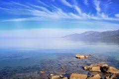 Cap Corse under an azure sky Stock Photos