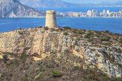 Cap DÂ'Or, Alicante, côte de l'Espagne Images stock