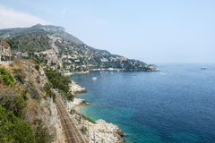 Cap d'Ail (Cote d'Azur). Cap d'Ail (Alpes-Maritimes, Provence-Alpes-Cote d'Azur, France): the coast at summer Royalty Free Stock Images