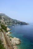 Cap d'Ail (Cote d'Azur). Cap d'Ail (Alpes-Maritimes, Provence-Alpes-Cote d'Azur, France): the coast at summer Royalty Free Stock Photo