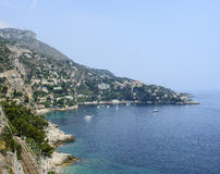 Cap d'Ail (Cote d'Azur). Cap d'Ail (Alpes-Maritimes, Provence-Alpes-Cote d'Azur, France): the coast at summer Royalty Free Stock Photos