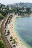 Cap d'Ail (Cote d'Azur). Cap d'Ail (Alpes-Maritimes, Provence-Alpes-Cote d'Azur, France): the beach at summer Stock Images
