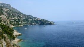 Cap d'Ail (Cote d'Azur). Cap d'Ail (Alpes-Maritimes, Provence-Alpes-Cote d'Azur, France): the coast at summer Royalty Free Stock Image