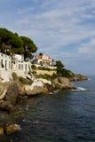 Cap-d'Ail. Walking trail along Cap-d'Ail, France's coastline Stock Photo