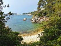 Cap d& x27;Antibes Bay. Côte d& x27;Azur Provence France Antibes Bay Sea cliffs summer stock photography