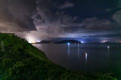 Cap D& x27 ; Vue 03 de nuit d'Aguilar Images libres de droits