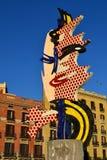 Cap de Barcelona. The Sculpture named Cap de Barcelona by Roy Lichtenstein  in Barcelona Spain Royalty Free Stock Image