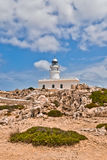Cap de Cavalleria lighthouse, Minoroca Royalty Free Stock Photos