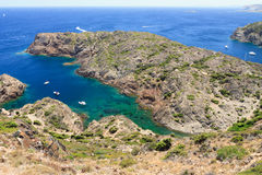 Cap de Creus. Rocky coast at Cap de Creus Costa Brava, Catalonia, Spain Royalty Free Stock Image