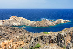 Cap de Creus. Rocky coast at Cap de Creus Costa Brava, Catalonia, Spain Stock Photos
