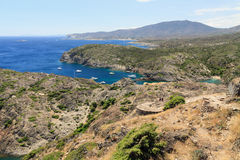 Cap de Creus. Rocky coast at Cap de Creus Costa Brava, Catalonia, Spain Royalty Free Stock Photos