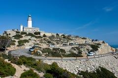 Cap de Formentor. Lighthouse on cap de Formentor, Mallorca stock photo