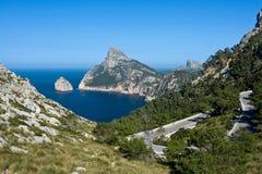 Cap de Formentor. View on Cap de Formentor, Mallorca royalty free stock photography