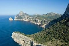 Cap de Formentor. View on Cap de Formentor, Mallorca royalty free stock photos
