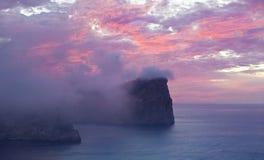 Cap de Formentor au coucher du soleil - Île Baléare Majorca - Espagne Photographie stock