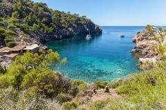 Cap de Formentor beach. Beautiful coast and beach of Cala figuera, Mallorca Royalty Free Stock Photo