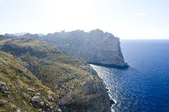 Cap de Formentor - beautiful coast of Majorca, Spain - Europe. Cap de Formentor - beautiful coast of Majorca, Spain - Europe Royalty Free Stock Photos