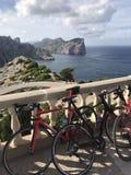 Cap de Formentor, fahrend über das Mallorca rad stockbilder