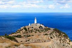 Cap de Formentor Lighthouse panorama and Mediterranean Sea, Majorca Stock Image