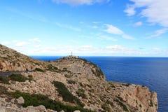 Cap de Formentor Lighthouse panorama and Mediterranean Sea, Majorca Royalty Free Stock Image