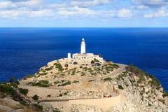 Cap de Formentor Lighthouse panorama and Mediterranean Sea, Majorca Royalty Free Stock Photos