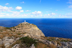 Cap de Formentor Lighthouse panorama and Mediterranean Sea, Majorca Stock Photo