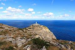 Cap de Formentor Lighthouse panorama and Mediterranean Sea, Majorca Stock Photos