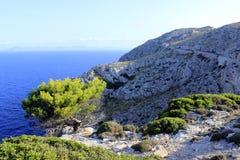 Cap de Formentor on Mallorca, Spain. Mountains of the Cap de Formentor on Mallorca, Spain Stock Photo