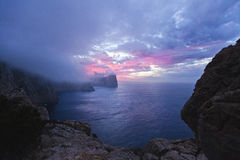 Cap de Formentor at sunset - Balearic Island Majorca - Spain Royalty Free Stock Images